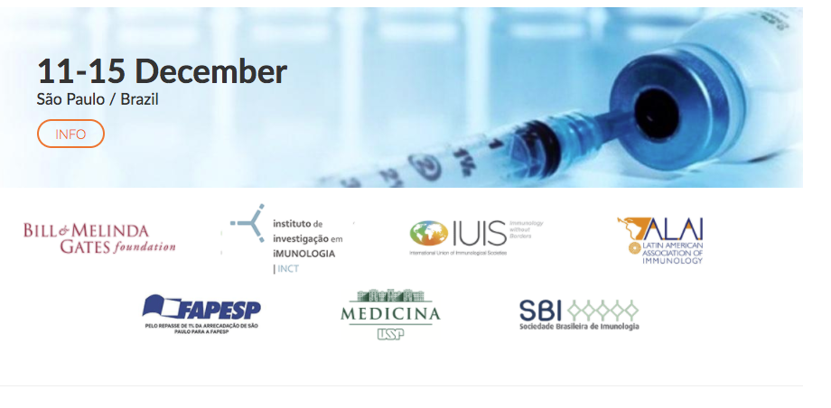 IUIS-Brazil Advanced Course of Vaccines graphic