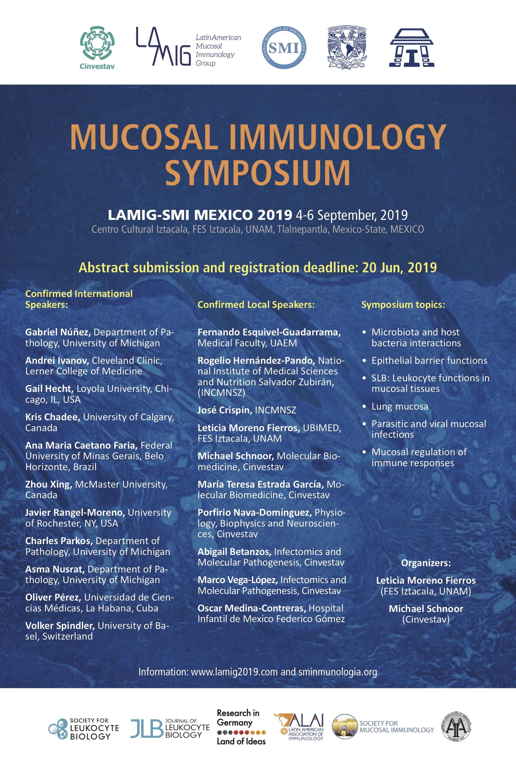 Simposio/Curso de Inmunología de Mucosas para Mexico graphic