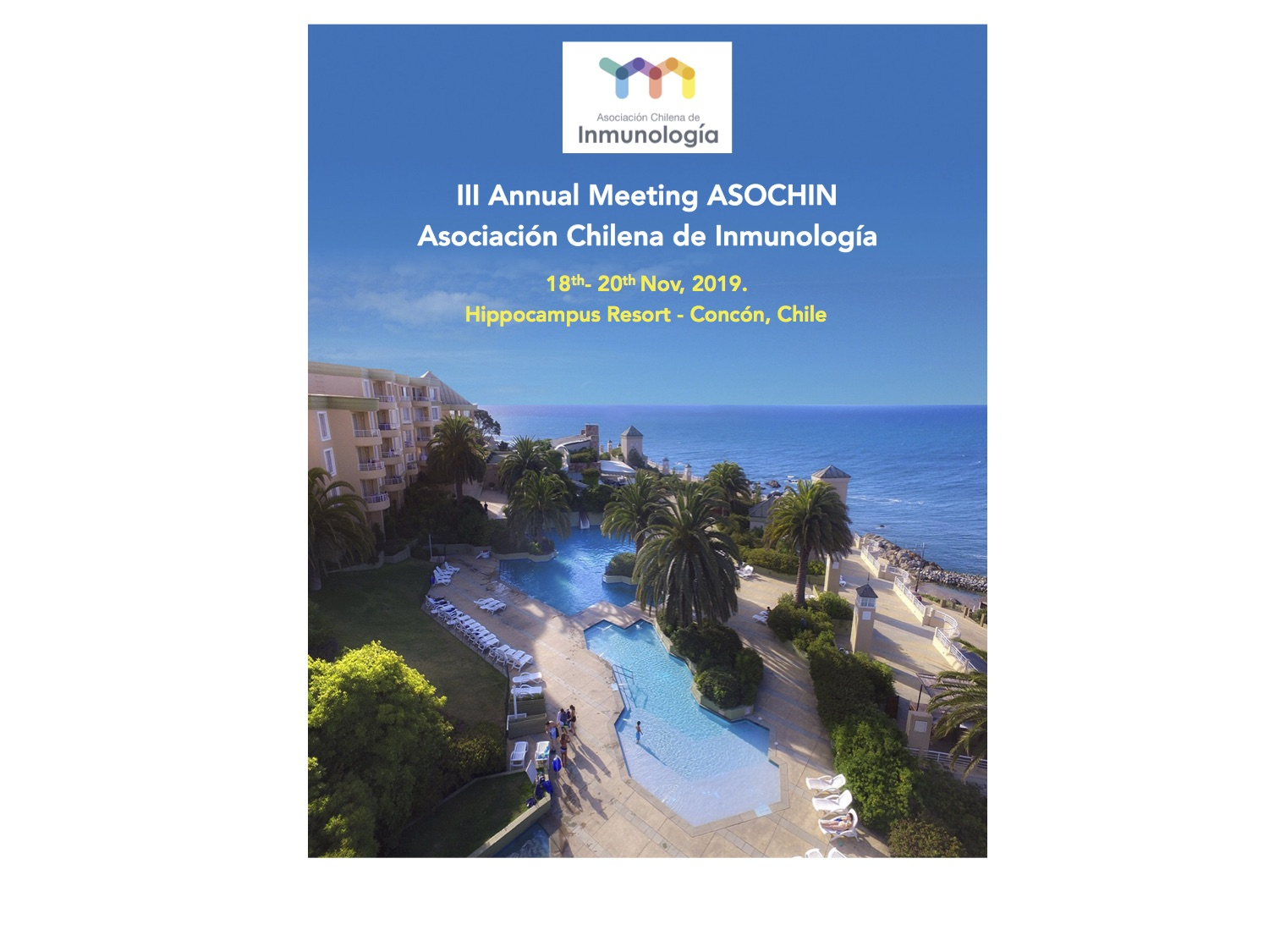 PRELIMINAR PROGRAM OF 3rd ANNUAL MEETING OF ASOCHIN graphic