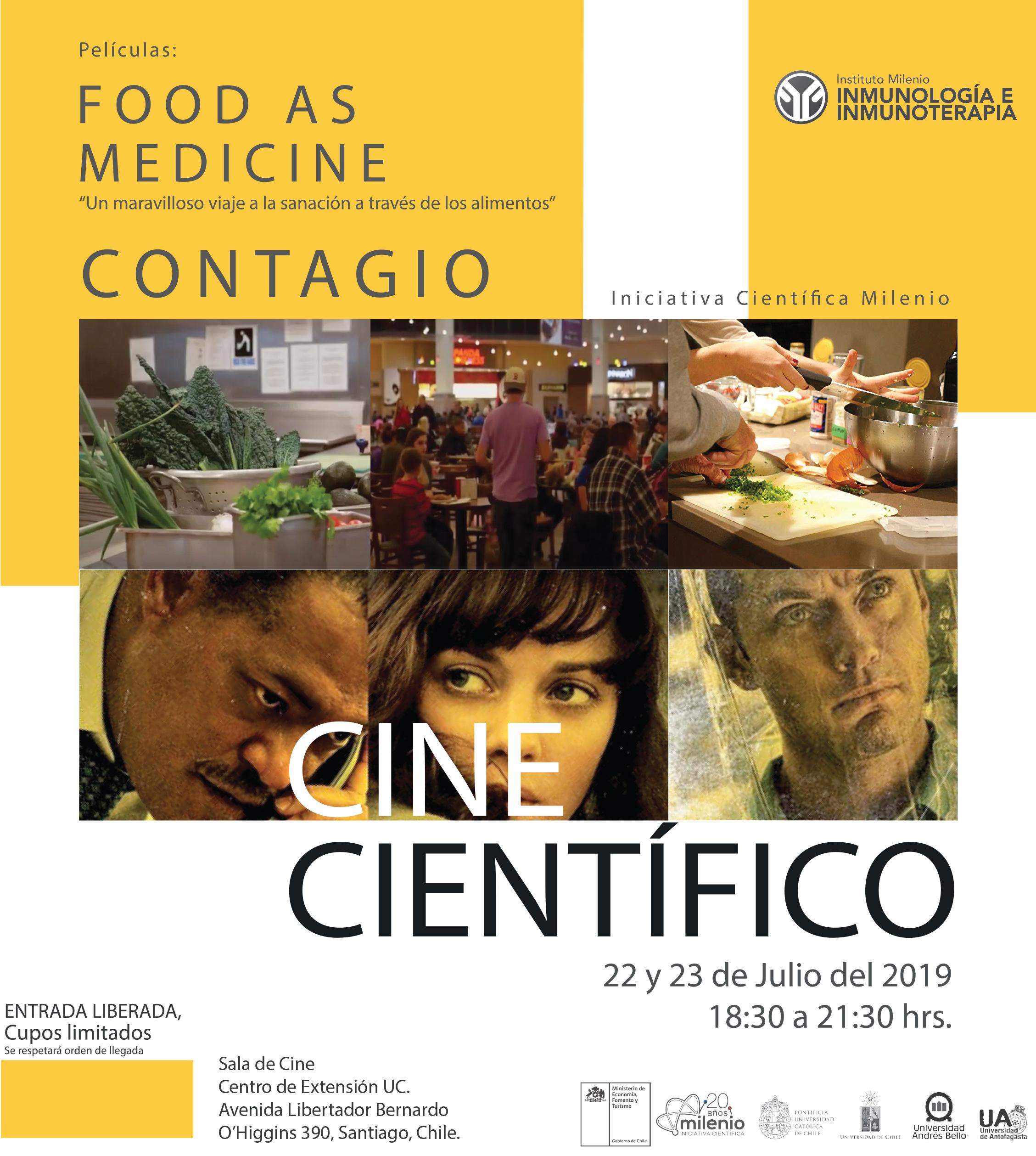 Actividad Cine Científico, organizado por Instituto Mileno en Inmunología e Inmunoterapia graphic