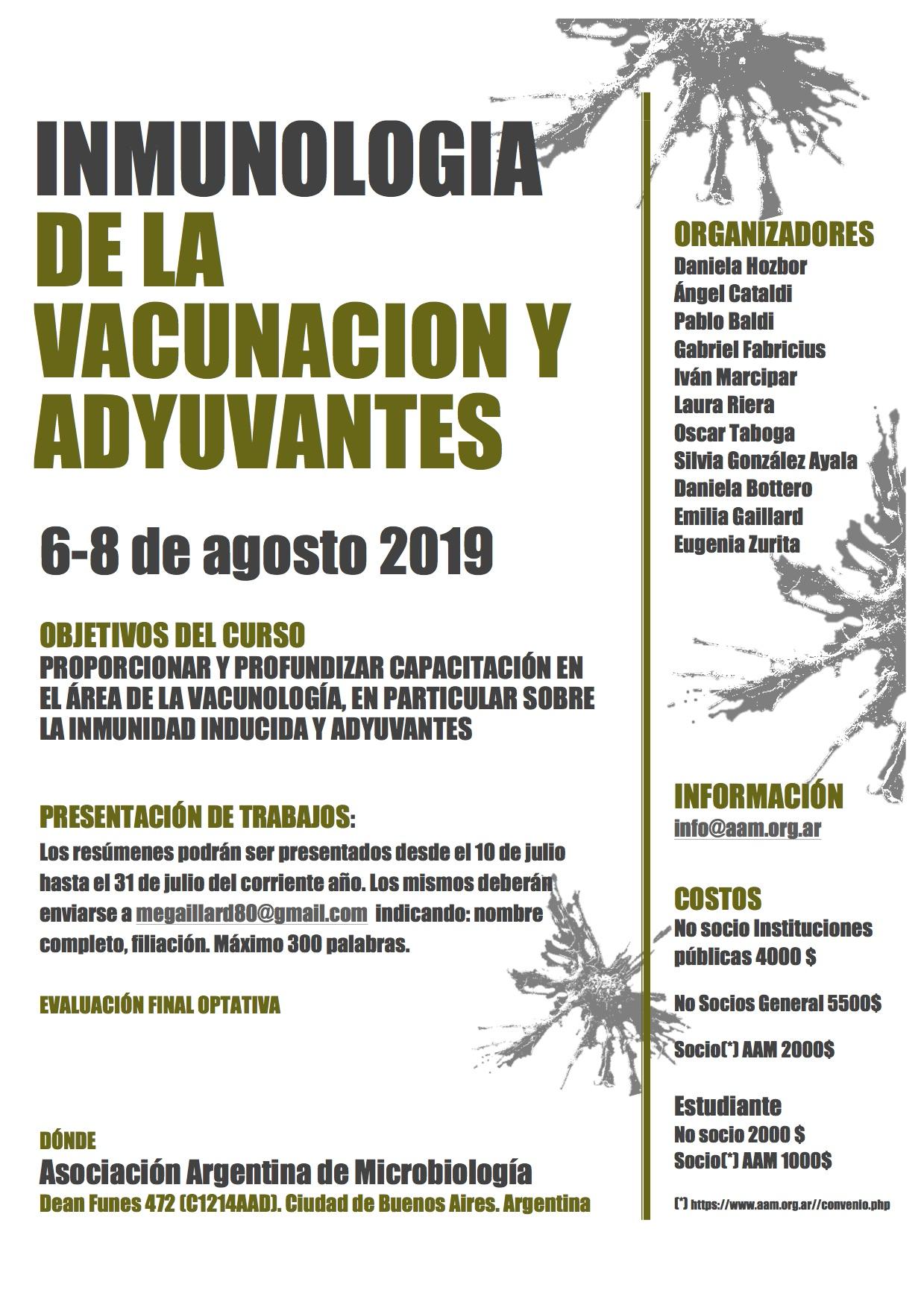 Curso Inmunología de la Vacunación y Adyuvantes graphic