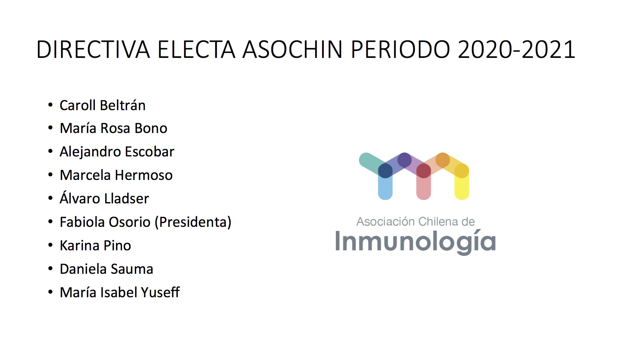NUEVA DIRECTIVA ASOCHIN PERIODO 2020-2021 graphic