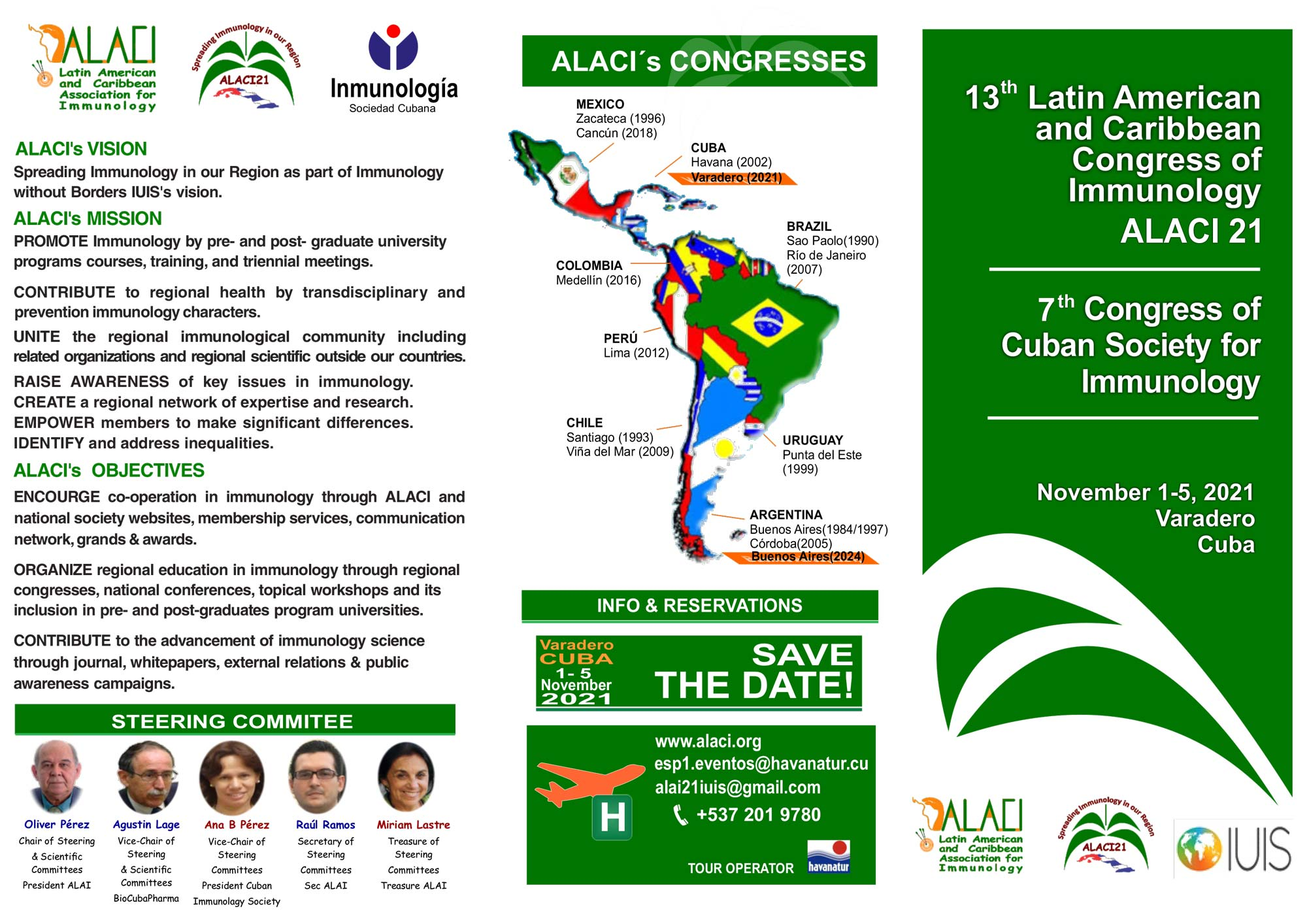 13th Latim American and Caribbean Congress of Immunology (ALACI 21) graphic